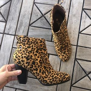 Forever Animal Print Booties Size 10